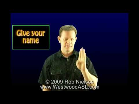 Sign Language Lessons - ASL Greetings and Introductions (American Sign Language)