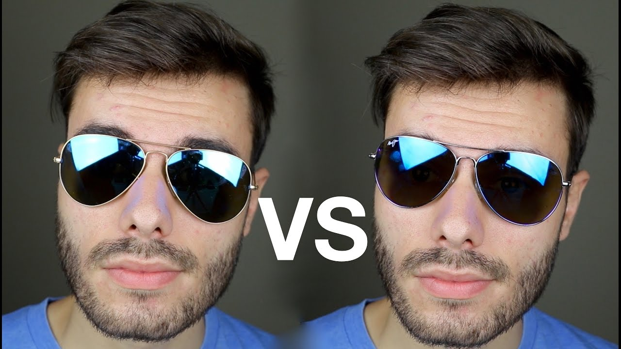 4c70eb1e9bfc Ray-Ban Aviator vs Maui Jim Mavericks - YouTube