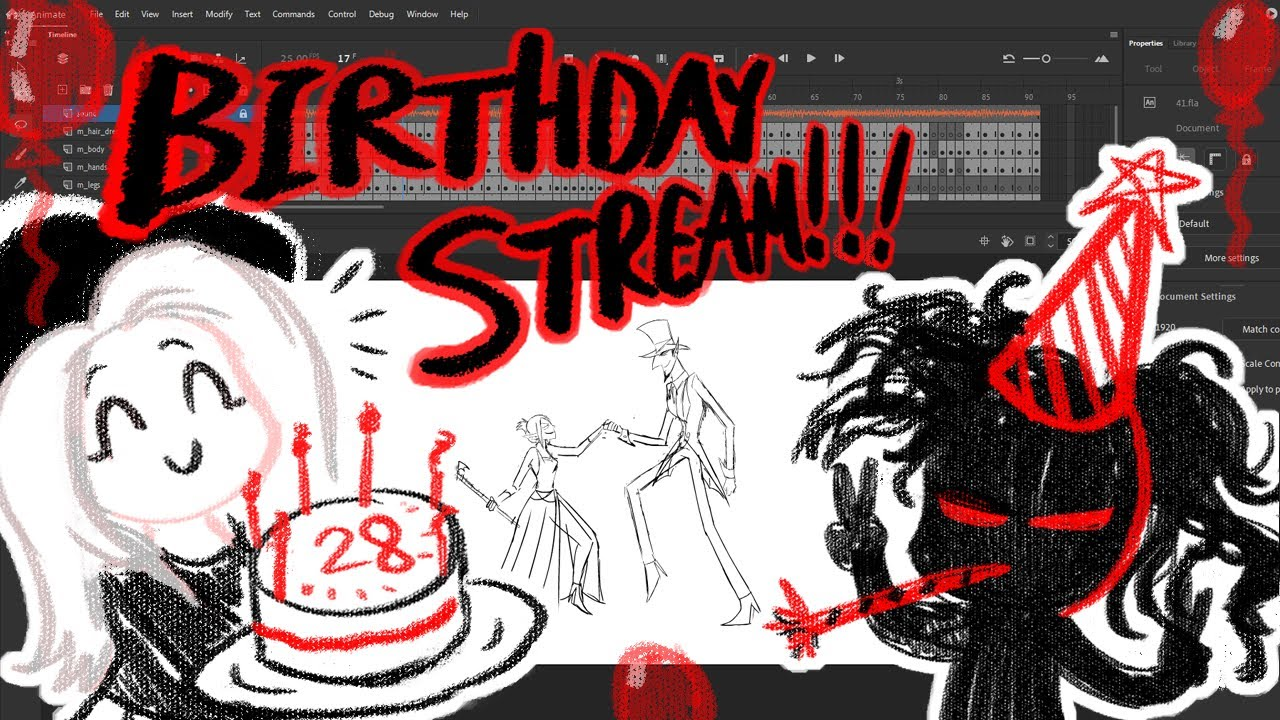 BIRTHDAY STREAM! with co-host Mina Rose/ Coloring shot 41/ The Showdown