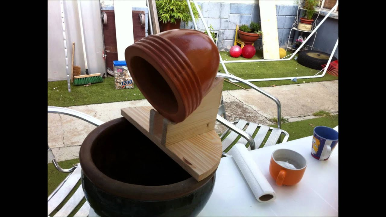 Diy fontaine de jardin fais le toi meme youtube for Fabrication barbecue exterieur
