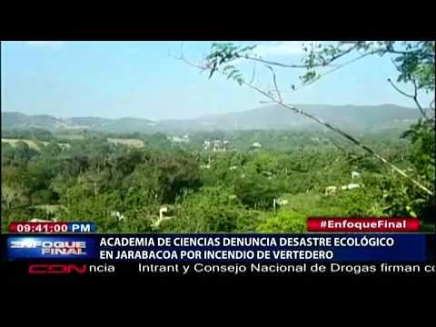 Academia De Ciencias Denuncia Desastre Ecológico En Jarabacoa Por Incendio De Vertedero