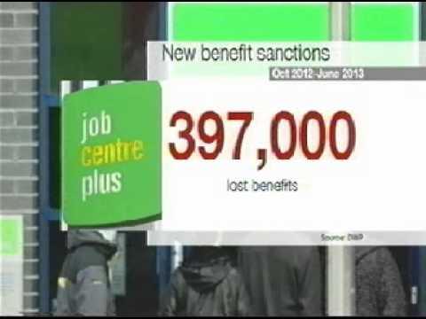 400,000 Job Seekers Allowance Sanctions (JSA) In 2013