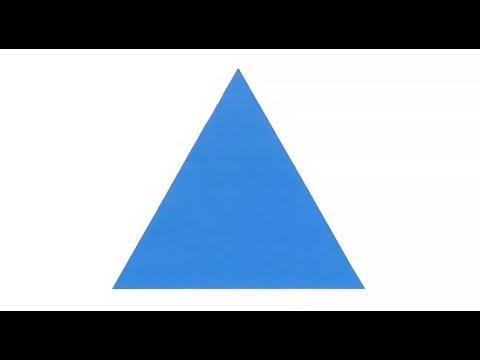 How to make an equilateral triangle - Easy tutorial