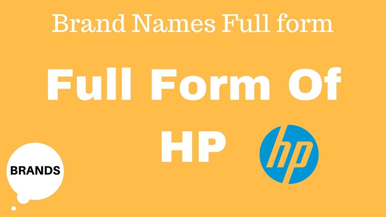 Full Form of HP - YouTube