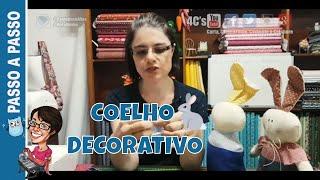 Coelho Decorativo Sr Purê – Paninhos e Afins – Costura Criativa e Artesanato