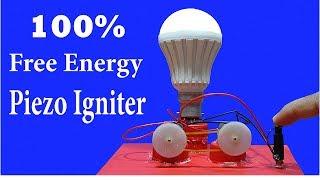Infinity Free Energy Led Light Bulbs - Using Piezo Igniter