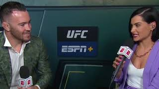 Colby Covington Interview With Jorge Talking in the background After Usman vs Masvidal
