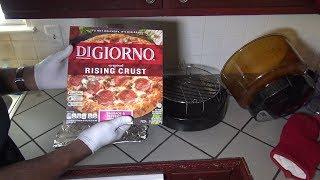 Digiorno Rising Crust Pizza, No Flip Method, NuWave Oven Heating