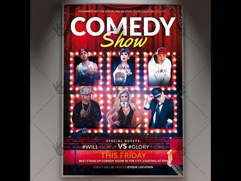 Comedy Flyer Template - comedy show flyer template
