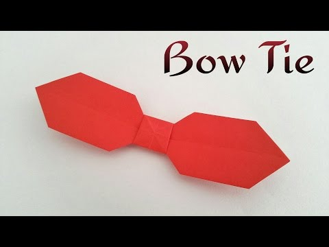 """Origami Tutorial to make an easy paper  """"Bow tie 🎀"""" - Father's day Special"""