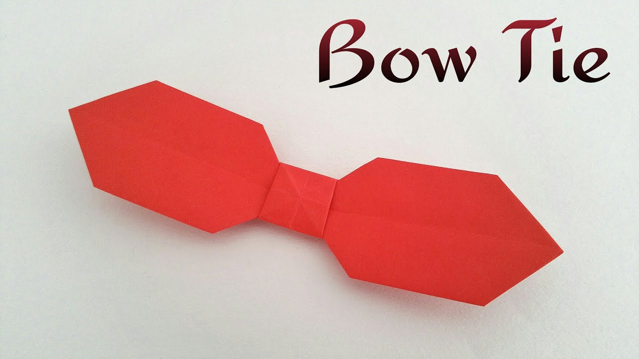 origami tutorial to make an easy paper quotbow tie