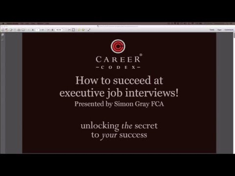 How to find success at executive job interviews!
