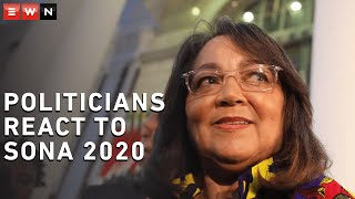 Politicians weigh in on the positives and negatives they took from Sona 2020.