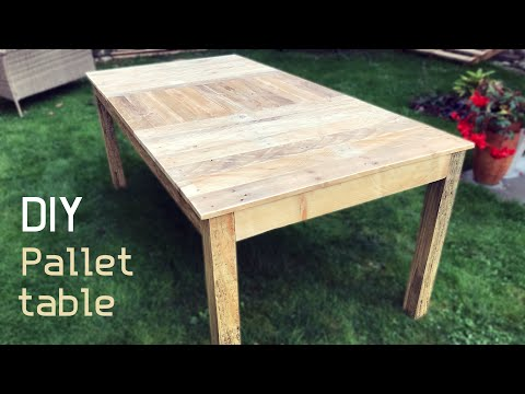 DIY - How To Make Table From Pallet Wood