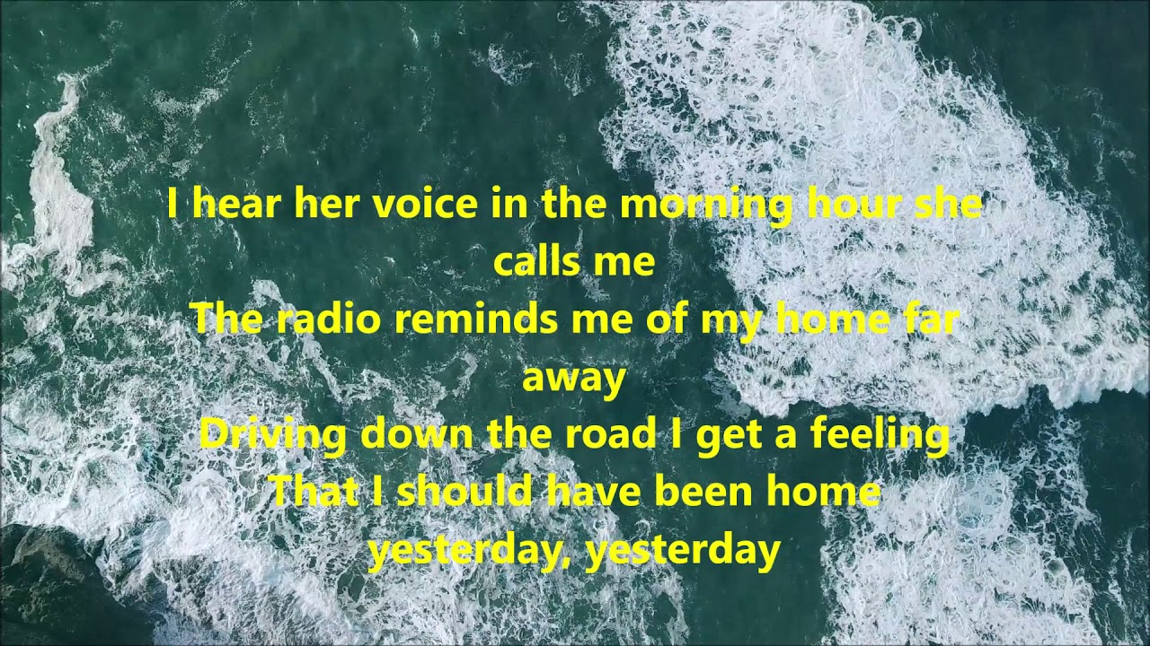 Country road take me home - John Denver - Lyrics Video - YouTube