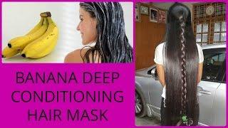 Banana Deep Conditioning Hair Mask I Get Silky Smooth & Glossy Hair Naturally At Home