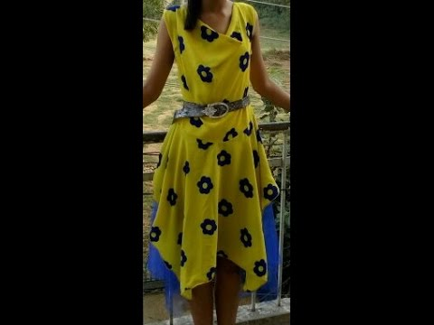 how to cut frock dress