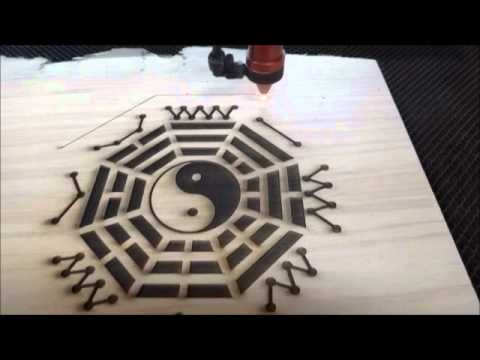 37.卜卦算命八卦盤 雷射雕刻設計製作 中日宗教藝術工作坊 佛具精品製作 - YouTube