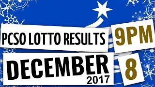 Lotto Results December 8, 2017, 9:00 PM ft. Swertres, EZ2, 6/58, 6/45, 6D