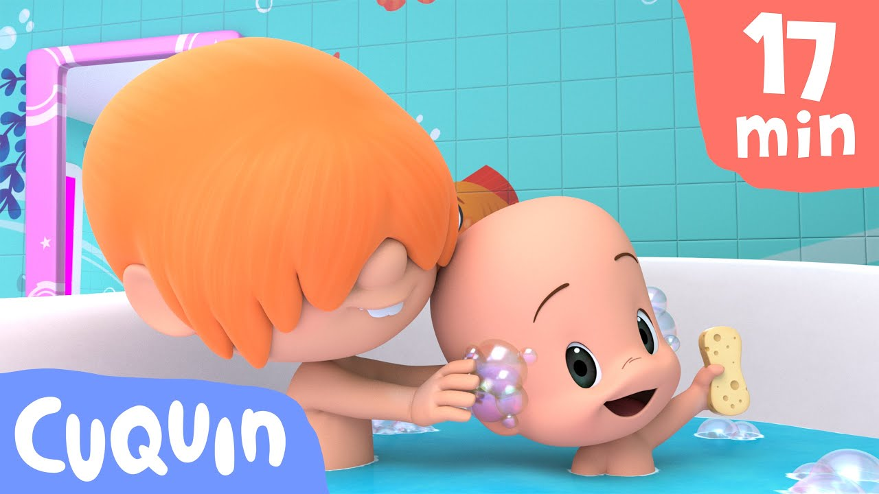 Bath Song and more educational videos with Cuquin   videos & cartoons for babies