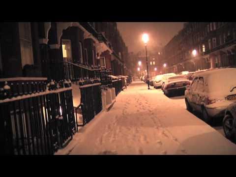 Snow in South Kensington, London