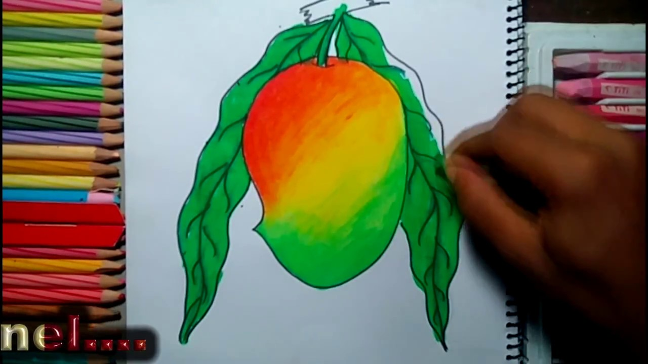 A Ripe Mango Drawing Technique Youtube