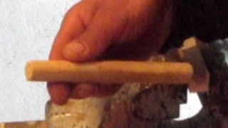 Fabrication cheville bois pour assemblage tenon mortaise
