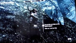 Прикольный баг в Skyrim с Вилкасом | Funny glitch in Skyrim with Vilkas [HD]
