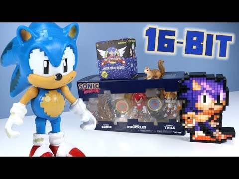 Classic Sonic the Hedgehog Toys Unboxing From Tomy Kidrobot & Pixel Pals