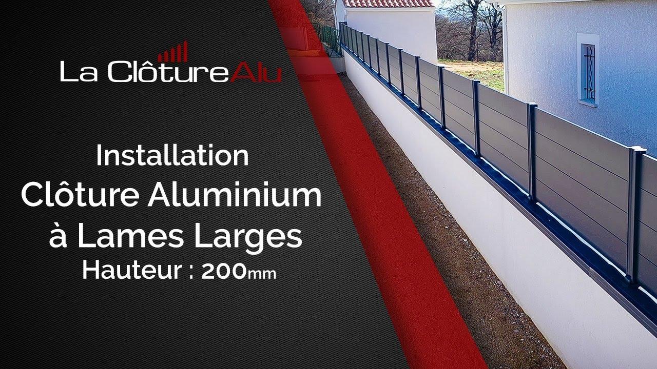 tutoriel de pose de cloture aluminium lames larges design lacloturealu fr