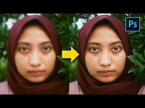 [ Photoshop Tutorial ] FIX BLUR PHOTO in 2 Minute using Photoshop