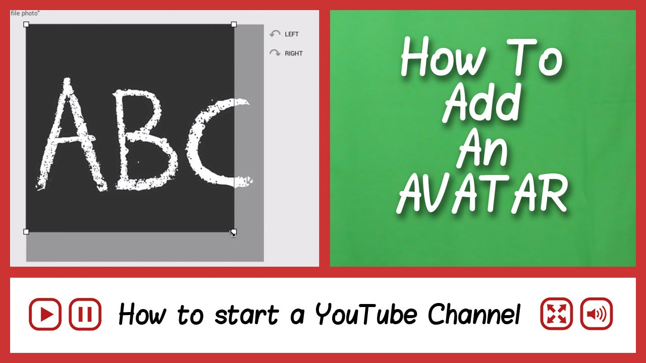 how to make a youtube channel icon