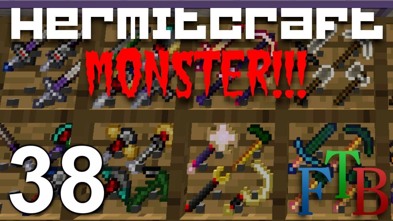 Hermitcraft FTB Monster Ep 38 - Best Swords !!!