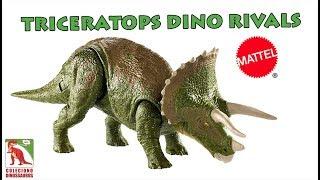 Analisei o novo Triceratops Mattel da linha Dino Rivals para 2019, ...