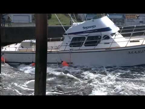 Tsunami Surge Depoe Bay Oregon Capt. Dan Zimmerman's Boat  CV Mariner