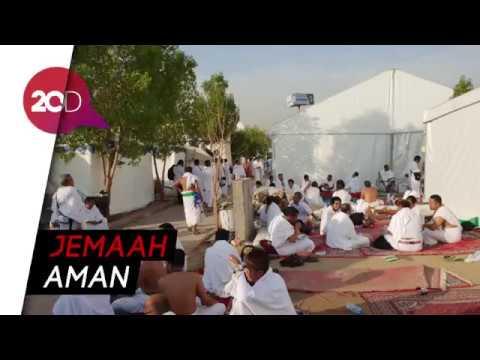Suasana Arafah Pasca Angin Kencang, Jemaah Tenang Bersiap Wukuf
