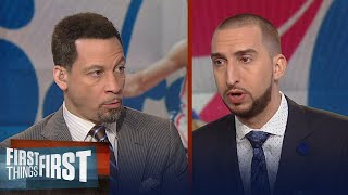 Are the 76ers a legit option for LeBron? Is Simmons the NBA rookie of the year? | FIRST THINGS FIRST