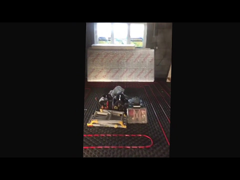 Underfloor heating -beneath heat