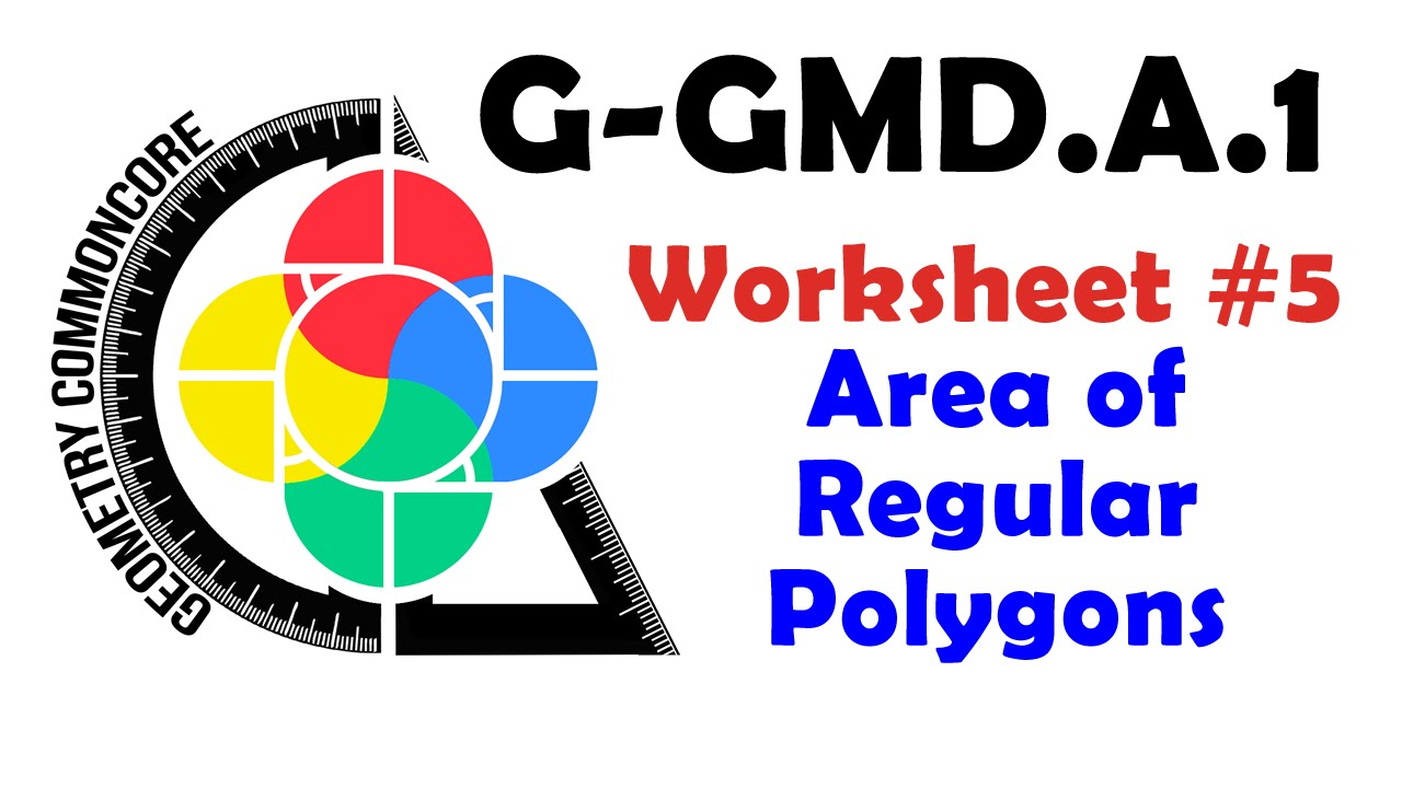 GGMDA1 Worksheet 5 Area of Regular Polygons YouTube – Areas of Regular Polygons Worksheet