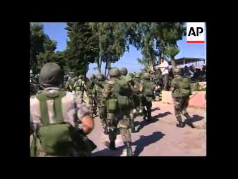 WRAP Lebanese army moving south of Litani River, ceremony, UN troops, Pellegrini