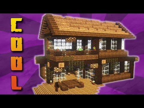Minecraft fachwerkhaus half timbered house 2 doovi for Minecraft holzhaus
