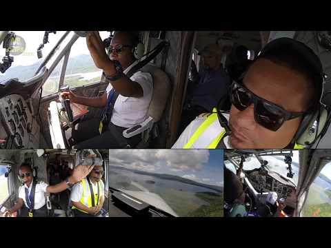 Patricia piloting Solomons Dash 6 Twin Otter into Ramata! [AirClips]