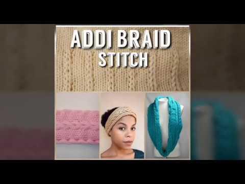 Addi Express Braid Stitch