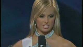 Miss Teen USA 2007 - South Carolina answers a question thumbnail
