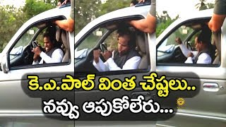 KA Paul Funny Fight in Inside Car  KA Paul Latest Videos  Media Masters