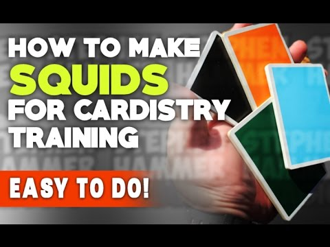 CARDISTRY SQUIDS - How to make them at home!