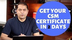 How to get your CSM (SCRUM) Certification in 2 days - Scrum Master Certification process explained