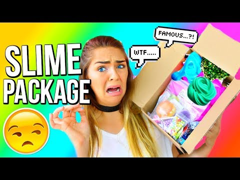 SLIME PACKAGE UNBOXING From FAMOUS Etsy Slime Shop MermaidSlimez Slime Review