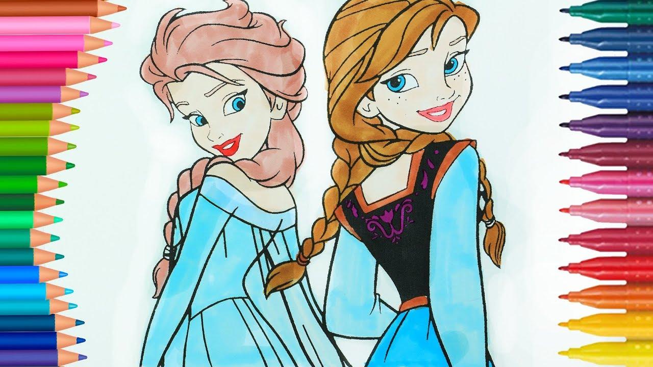 Eiskönigin Elsa Und Anna Ausmalbilder Wie Zeichnet Und Färbt