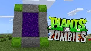 How To Make a Portal to the Plants vs Zombies Dimension in Minecraft Pocket Edition